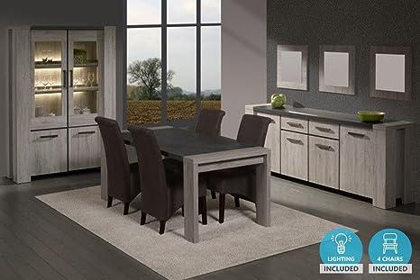 Credenza Sala Da Pranzo : Insieme sala da pranzo completa contemporanea colori portofino con