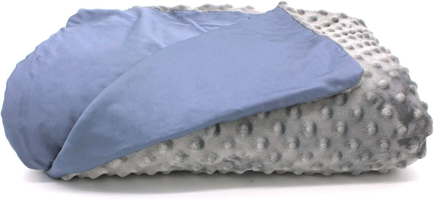 """Restwave Bamboo Fiber Weighted Blanket Cover 48""""X72"""" Duvet Cover, Full Size Bamboo Fiber and Minky Removable Blanket Cover Two Sides Usable"""
