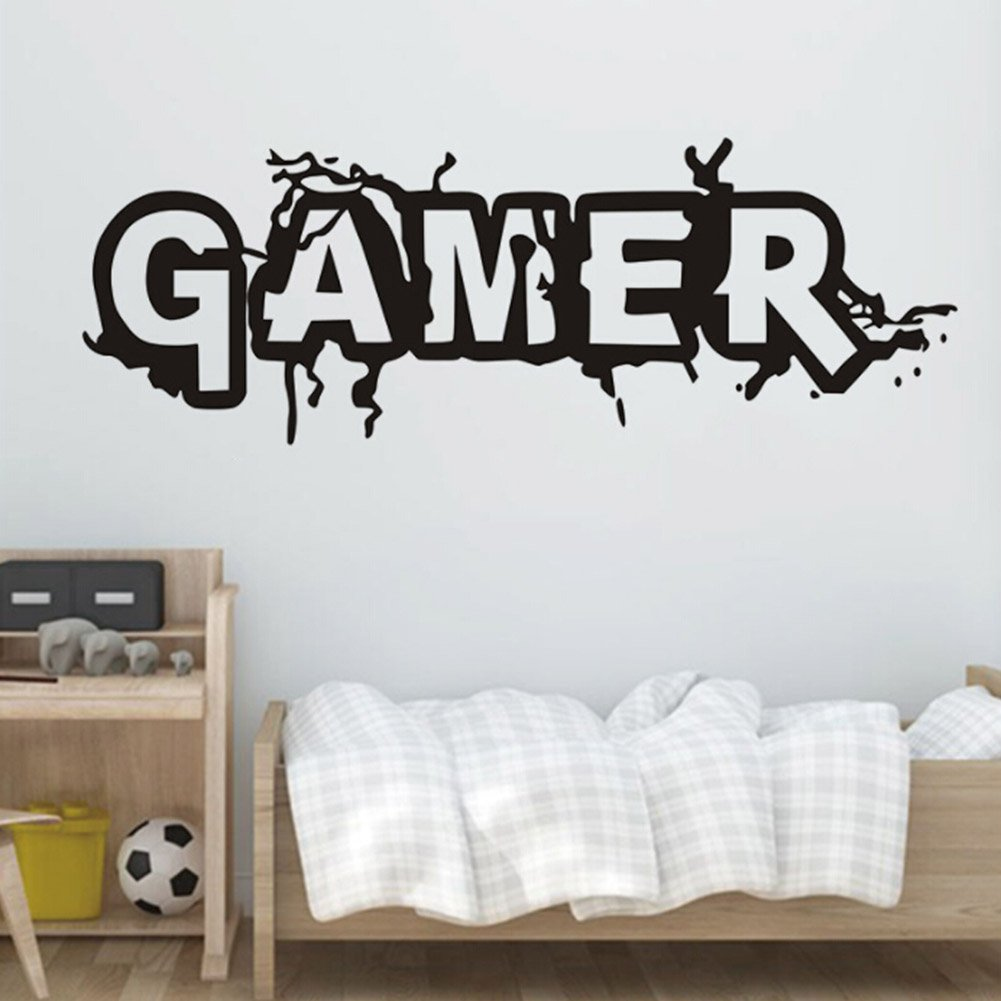 Auxsoul Gaming Quote Extreme Gamer Door/Wall art sticker/Decal Boys/Man Cave by Auxsoul (Image #6)