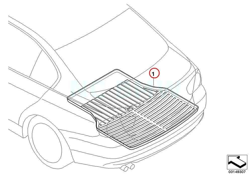 BMW Genuine Trunk Mat Rubber