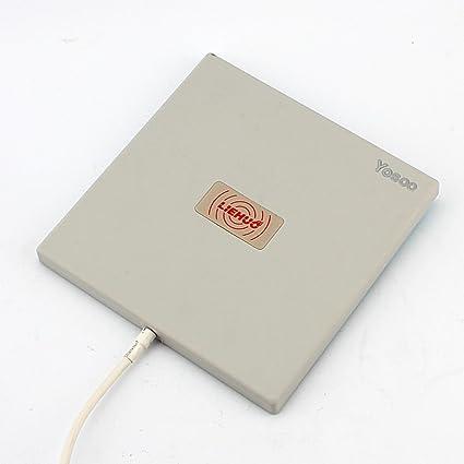Antena direccional de panel para exteriores de Yosoo®, 2.4 GHz, 14 dBi, gran ganancia de WiFi, WLAN direccional, extensor de largo alcance, blanco