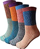 Women's Lady's 4 Pair Pack Vintage Style Colorful Cotton...
