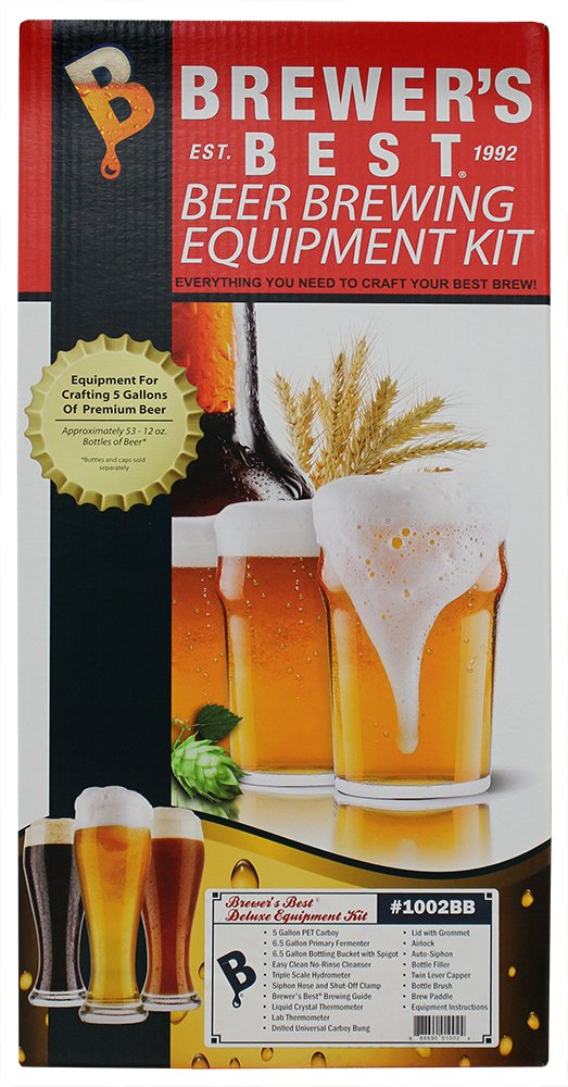 Brewer's Best Deluxe Beer Brewing Equipment Kit with Better Bottle Carboy
