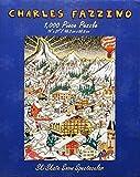 Charles Fazzino Ski Skate Snow Spectacular 1000 Piece Puzzle by Fazzino