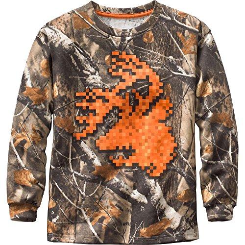 Legendary Whitetails Boys Digital Buck Long Sleeve T-Shirt Big Game Field Camo X-Large (Camo Field Shirt)