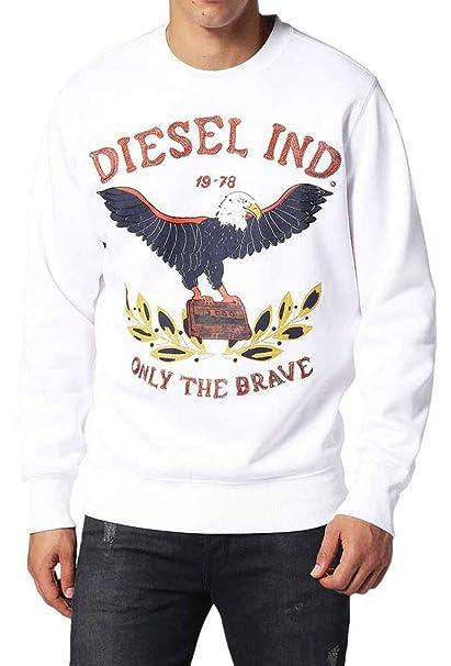 Diesel S-Joe-RA Hombre Sudadera (XXL, Blanco): Amazon.es: Ropa y accesorios