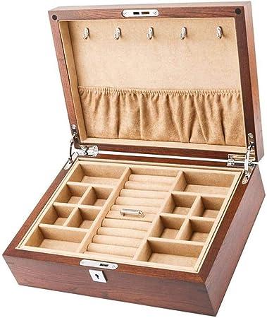 GOVD Caja para Guardar Relojes Madera Estuche Relojes para Relojes, joyería para Relojes - Khaki: Amazon.es: Hogar