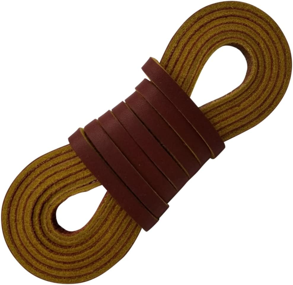 Straps 1//4 x 72 inches for Baseball Gloves and Softball Mitts Laces or Craft Projects Neutral Leather Cord and Lacing