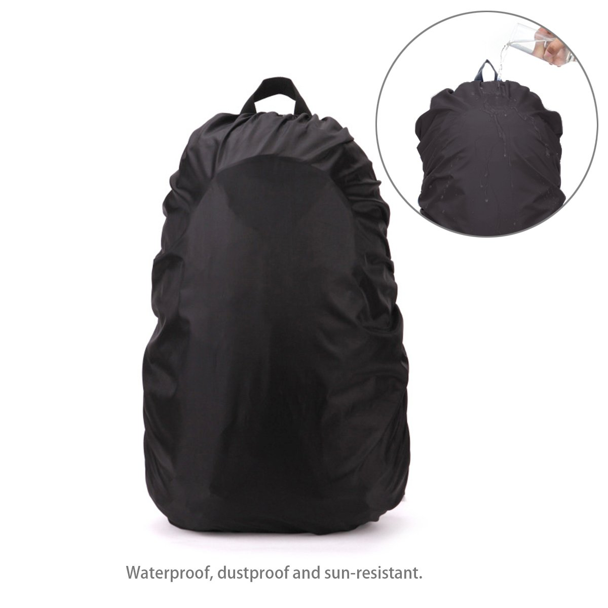Pixnor Waterproof Rain Cover Backpack Cover Rain Cover Rain Cover for Camping Hiking (Black)