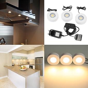 Lixada 5w Led Unterbauleuchte Ac100 240v Mit 3 Leds Touch Lampe