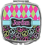 Every woman needs a compact mirror in her purse. Our personalized compact mirrors make a great bridesmaid gift or a mother's day gift, especially when you combine it with our personalized makeup bags. Get both in the same design or a coordina...