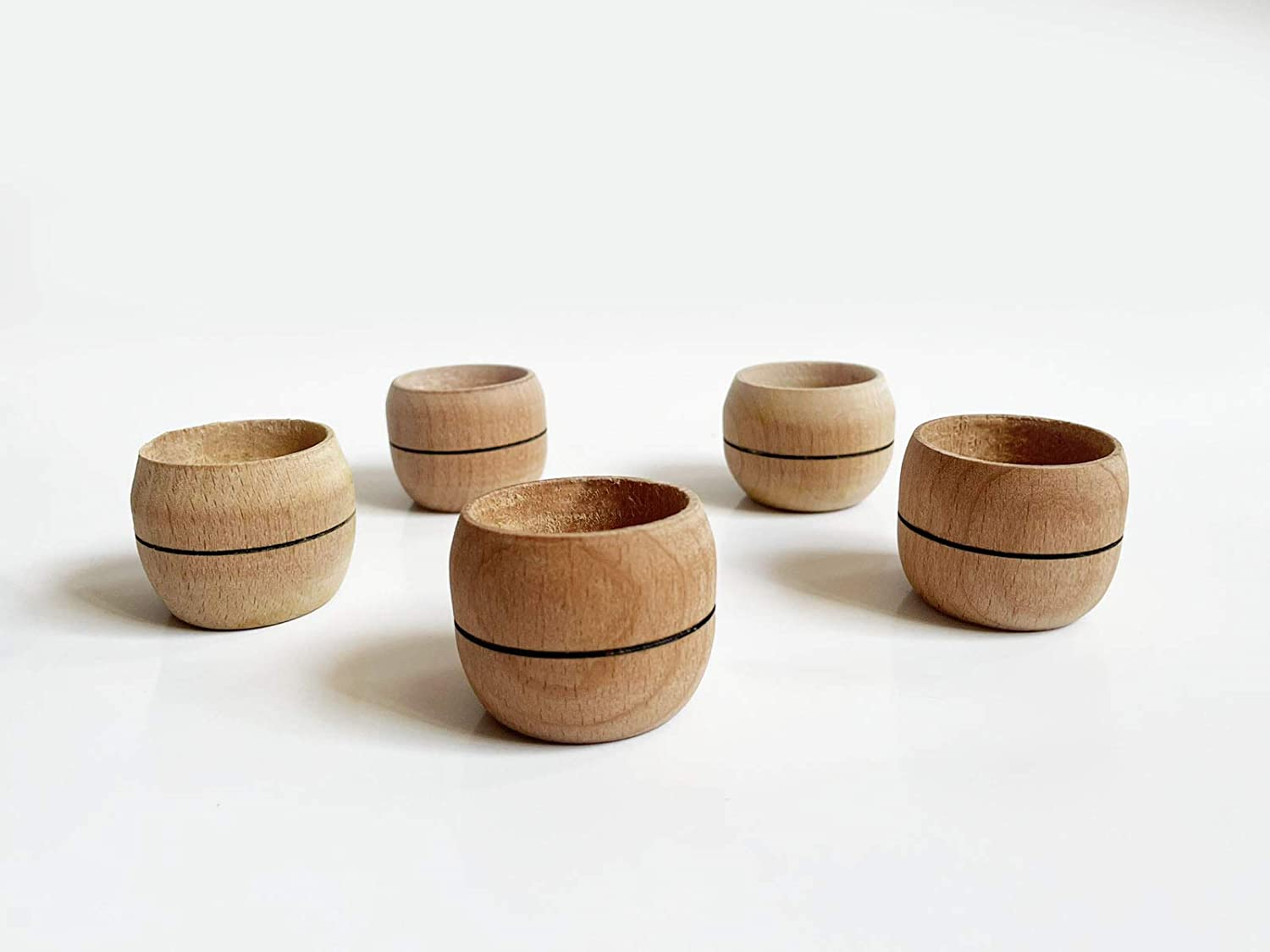 Wooden Tea Lights Candle Holder Set of 5 Handmade Candle Tea Light Holders Suitable for Home Décor, Parties, Dining Table, Receptions Gift Idea for Wedding & Housewarming Parties