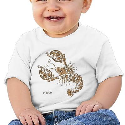 Cancer Cartoon Kids Shirt, Cotton Short Sleeve Tee Baby Shower Gift White