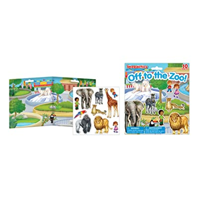Imaginetics Off to the Zoo Playset – Includes 10 Magnets