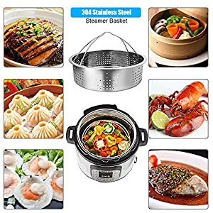 10 Pieces Instant Pot Accessories- Kitchen Wares with Springform Pan, Eggs Racks, Steamer Basket, Oven Mitts, Instant Pot Release Valve and Magnetic Cheat Sheets (10 pcs)