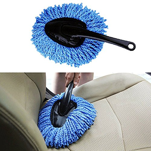 Portable Vehicle Auto Car Truck Microfiber Duster Dusting Cleaning Wash Brush Cling Tool (Oval Duster Brush)