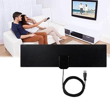 ROKOO Antena de TV Digital HD DVB-T2 con Amplificador de Señal sin Amplificador de