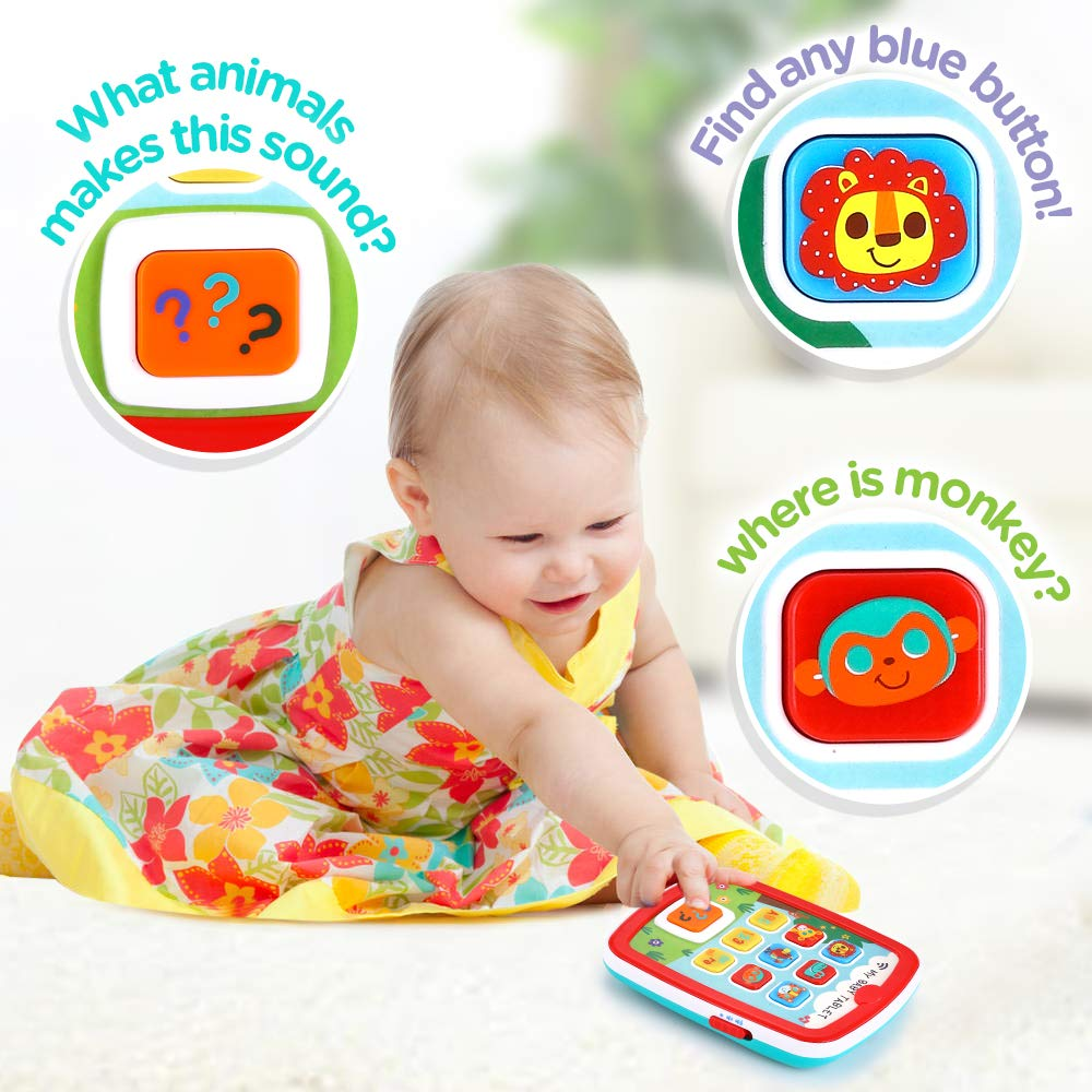 Toddler Learning Tablet for 1 Year Old, VATOS Baby Ipad for 6M -12M -18M+ with Music & Light, Travel Toy Tablet with Easy ABC Toy, Numbers & Color   My First Learning Tablet by VATOS (Image #8)