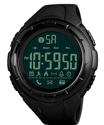 Reloj de pulsera digital para hombre, resistente al agua, para uso al aire libre, con calorías y Bluetooth: skmei: Amazon.es: Relojes