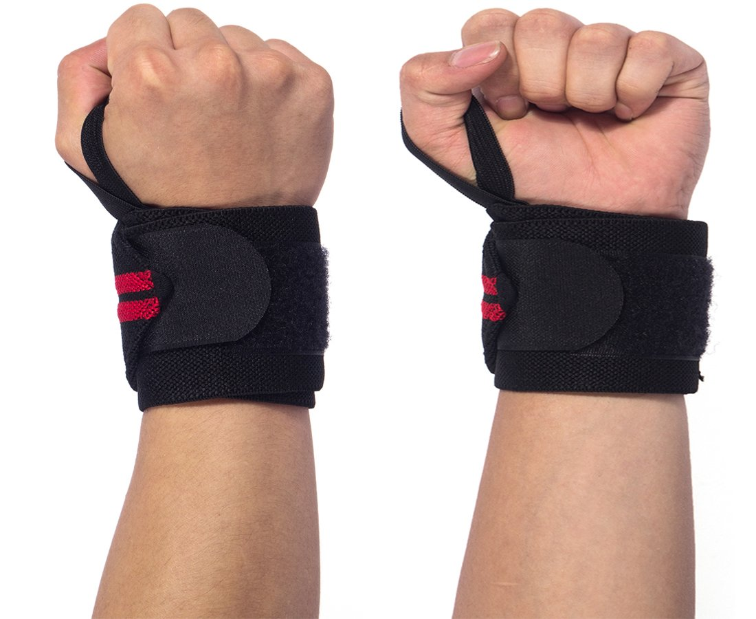 One Size fits all Men/& Women Strength Training Bodybuilding 15.9Professional Quality Wrist Straps Support Braces Wraps Belt Protector With 2.5Thumb Loops for Powerlifting Weight Lifting