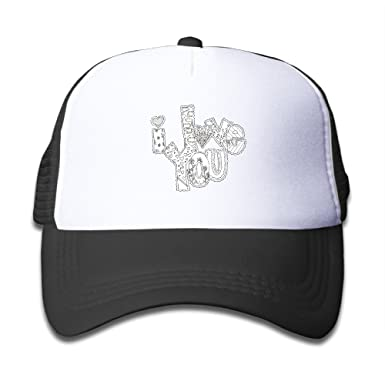 HEHE TAN Pp I Love My Boyfriend Coloring Pages Trucker Childrens Mesh Hat Cap