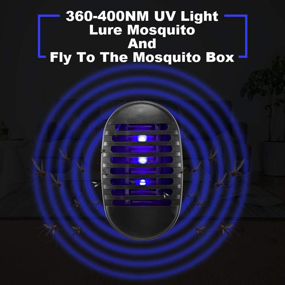 Plug in Innen M/ückenlampe f/ür das Haus Garten Terrasse B/üro Gesch/äft Socket Typ Moskito Fliegenfalle Insektenlampe Indoor Bug Pest Zapper Volwco Elektrisch insektenvernichter Mit UV-Licht