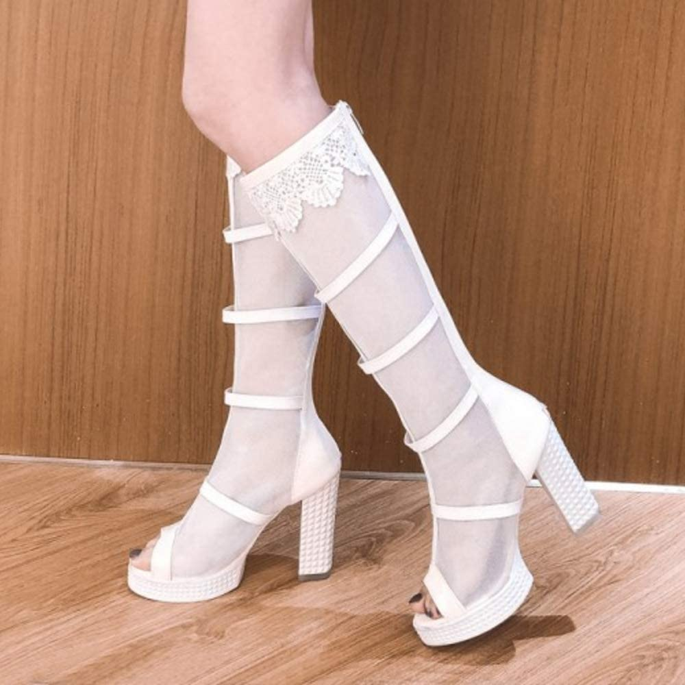 Lydee Donne Moda Gladiator Sandals High Shoes 2 Bianca