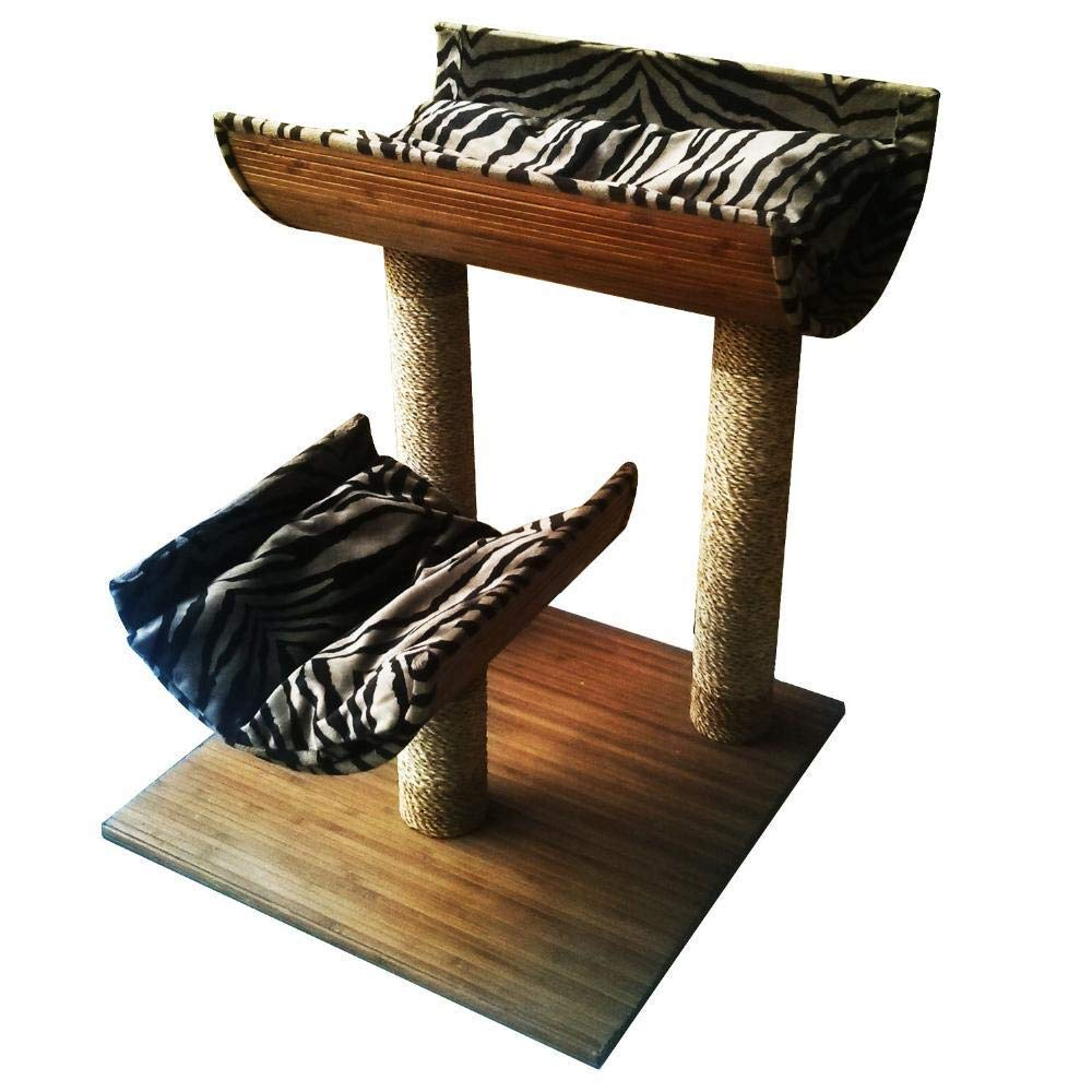 TOUYOUIOPNG Deluxe Multi Level Cat Tree Cat Play Towers Mats 45  45  60cm of pet bamboo made from cat stand cat Tree