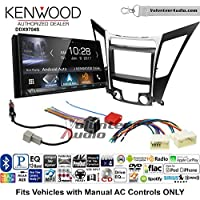 Volunteer Audio Kenwood DDX9704S Double Din Radio Install Kit with Apple Carplay Android Auto Fits 2011-2013 Hyundai Sonata