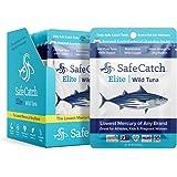 Safe Catch Elite Lowest Mercury Wild-Caught Tuna Fish Pouch, Gluten-Free, Paleo, Keto, Kosher, Non-GMO, High-Protein Food, 3o