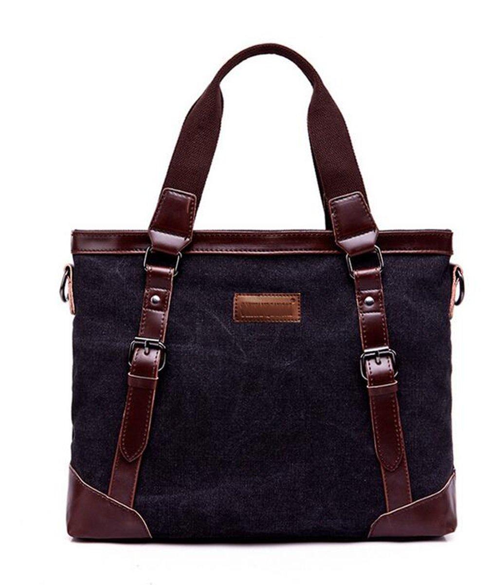 SHISHANG Neue Tasche Baumwolle Computer Tasche Mode Geschäft Aktentasche Nähen Leder Herren Handtasche DYTUYGF