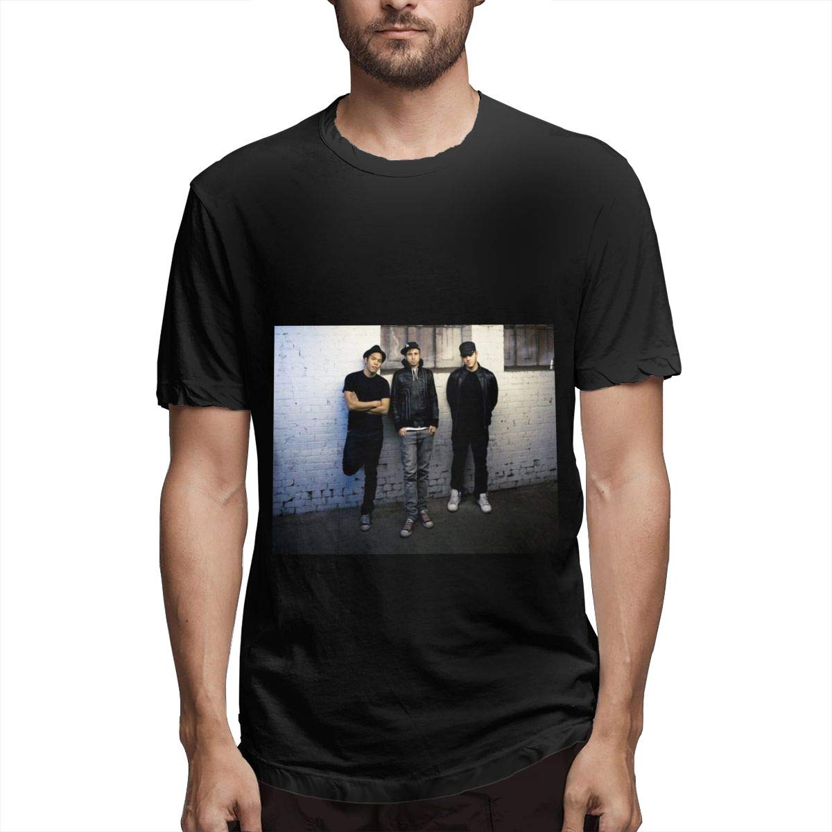 Lihehen Mans The Glitch Mob Simple Casual Round Neck Ts Shirts