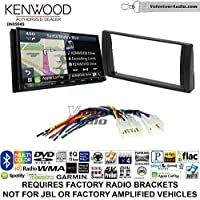 Volunteer Audio Kenwood Excelon DNX994S Double Din Radio Install Kit with GPS Navigation Apple CarPlay Android Auto Fits 2002-2006 Non Amplified Toyota Camry
