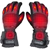 Loowoko Heated Gloves with Rechargeable Batteries Unisex Hand Warmer for Winter Activities Climb Hiking Skiing Hunting