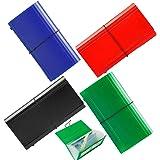 13 Pockets Expanding Check Bill File Folder,XUCHUN 10.4' 5.5' Expanding File Folder 4 Pack for Receipts, Coupons, Checks, Ca