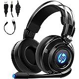 Fone de ouvido para jogos HP com microfone, para PS4, Xbox One, Nintendo Switch, PC, Mac, laptop, fones de ouvido supra-auric