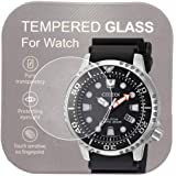 [3-Pcs ] For Citizen BN0150-28E/BN0151-09L Watch Screen Protector,2.5D Rounded Edges 9H Premium Real Tempered Glass Screen Pr
