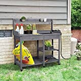YAHEETECH Outdoor Potting Bench Table Potters