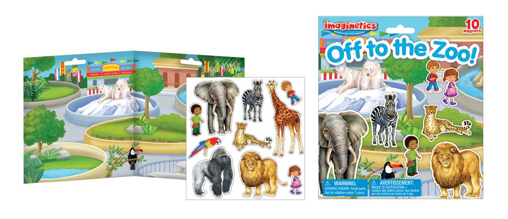 Imaginetics Off to to to the Zoo Spielset, inklusive 10 Magnete 7b46e6