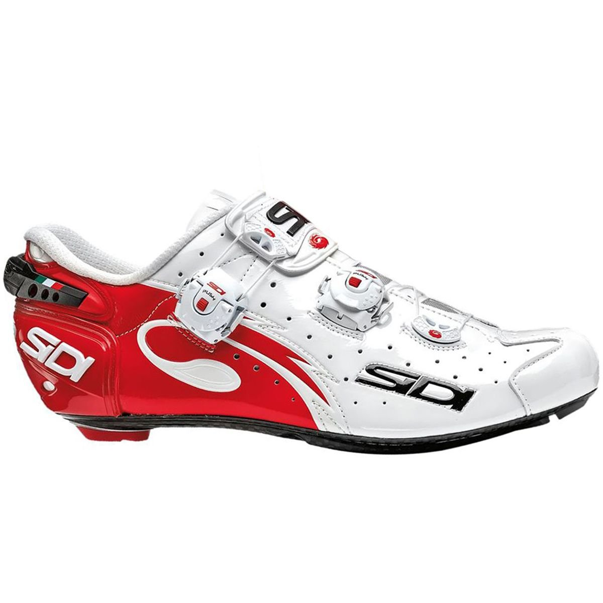 - Sidi Road Chaussures Wire Carbon Push de Course Blanc Noir Rouge 45 EU