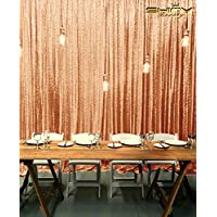 ShiDianYi 6FTX6FT-SEQUIN BACKDROP Rose Gold - Sequin Photo Background,Photo Booth Backdrop,Sequence Backdrop FOR Wedding (Rose Gold)