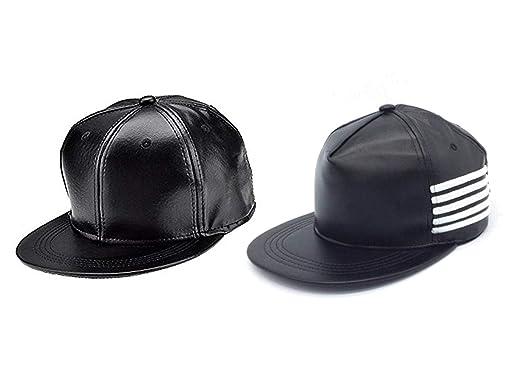 d4c031e9391 Babji Unisex Combo Classy Style Leather Hip-Hop Cap (CPB16