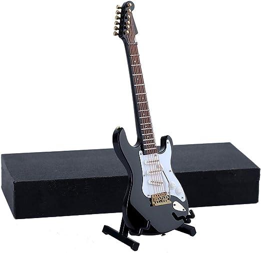 seawoo de madera miniatura guitarra eléctrica con función atril y ...