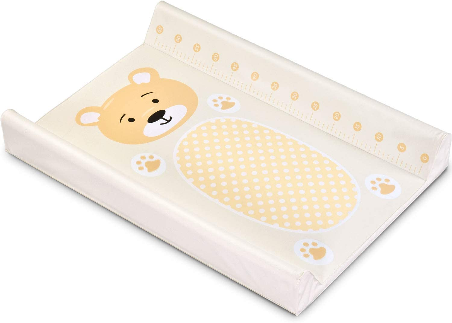 Changing mat Pad for Baby Washable Travel mat for Changing Table 50x70cm 70 x 50 cm, White Dog Portable Nappy mat for Newborn and Toddlers Waterproof Home and Outdoor