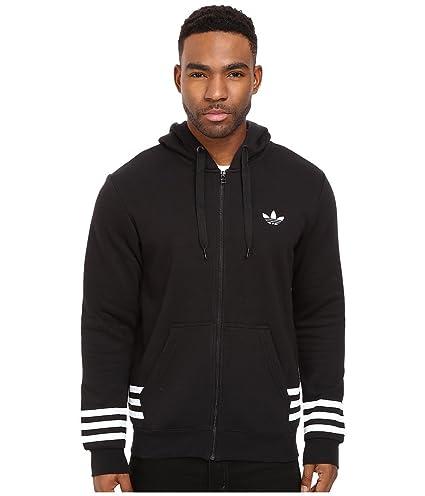 adidas Men's Originals Street Graphic Full-Zip Hoodie, Medium, Black
