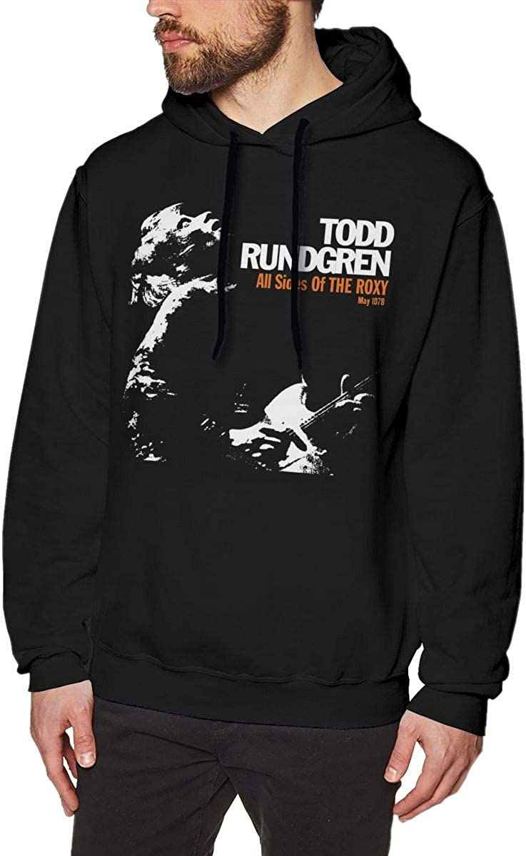 Todd Rundgren All Sides of The Roxy Men Classic Comfortable Hoodie Black