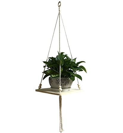 Decor Trends Wall Hanging Plant Shelf Macrame Display Wall Hanging Shelf  Flower Pot Holder Succulent Plants