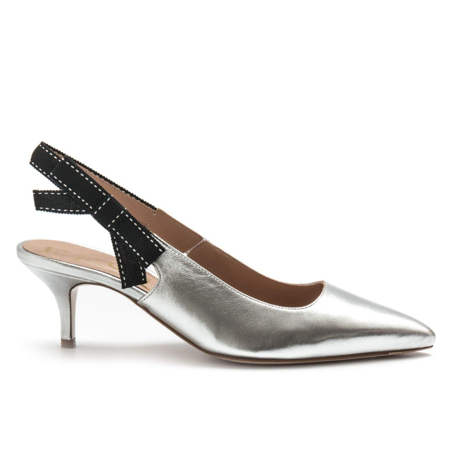 Argent Roberto Festa - Molly Sling Back in argent Leather - MOLLY2