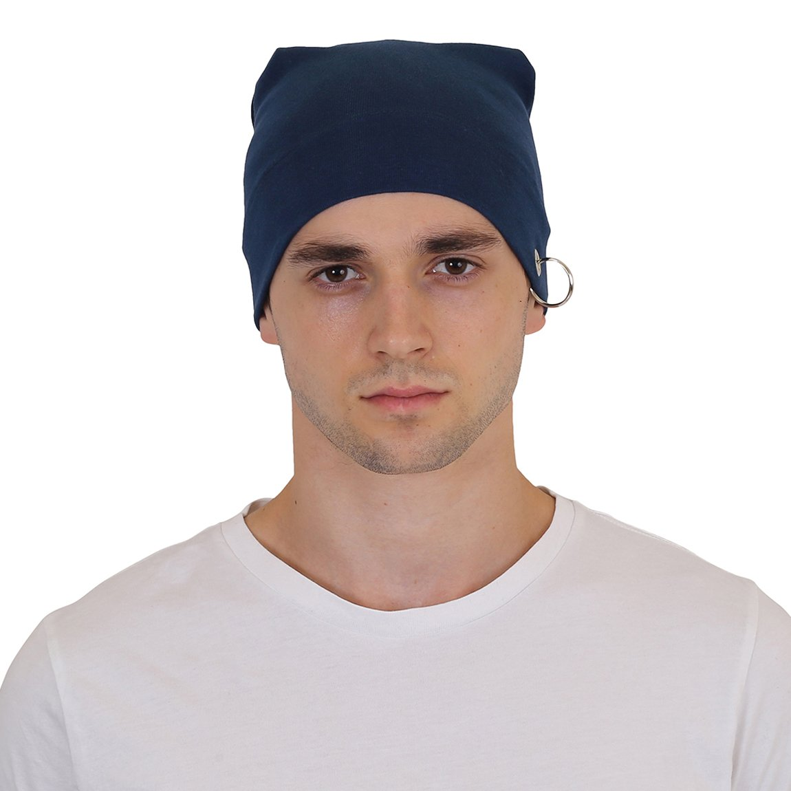 7b1766c4d1d NEON ROCK Men s Cap with Ring (Blue)  Amazon.in  Clothing   Accessories