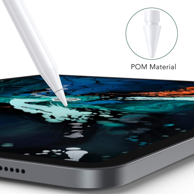 Hommie Nibs de Rechange Compatible avec Apple Pencil 2 et 1 G/én/ération,4 Pi/èces Pointes de Rechange pour Apple iPad Pro 11//9,7//10,5//12.9,Blanc